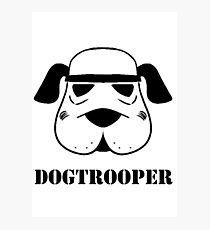 Dog Trooper funny logo Photographic Print