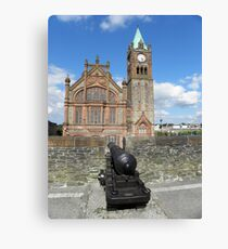 Derry walls and Guildhall - Co Derry - Ireland Canvas Print