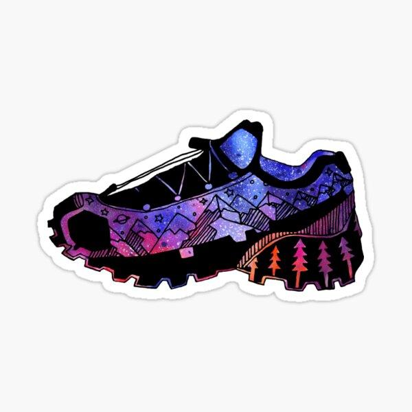 Trail Running Cosmic Mountain Shoe Sticker