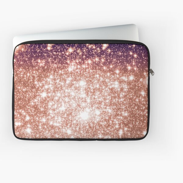 Galaxy Sparkle Stars Eggplant Champagne Ombre Laptop Sleeve