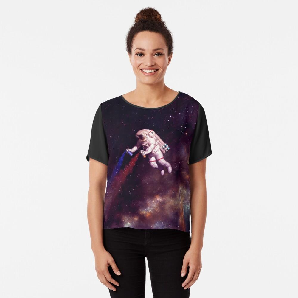 Shooting Stars - der Astronautenkünstler Chiffon Top