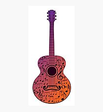 Guitar and Music Notes 3 Photographic Print