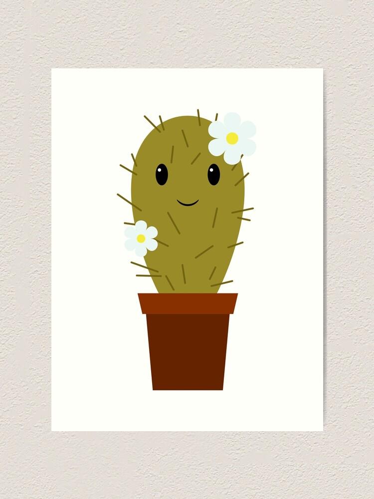 Cute Cartoon Baby Cactus Art Print By Mrhighsky Redbubble