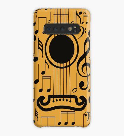Gitarre und Musik Noten 4 Hülle & Klebefolie für Samsung Galaxy