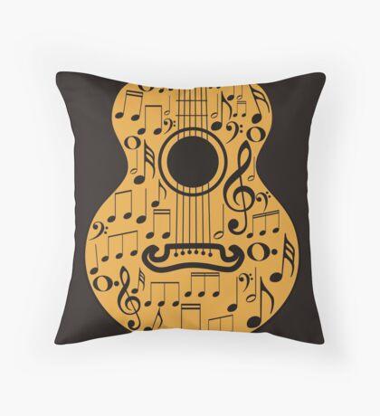 Gitarre und Musik Noten 4 Dekokissen