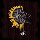 Sunflower Spiderweb by DJKopet