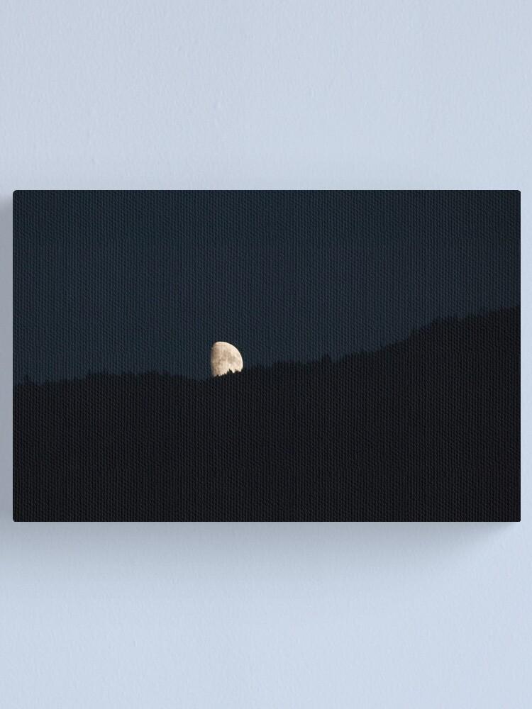 Alternate view of Moon peering over the hillside, Bolzano/Bozen, Italy Canvas Print