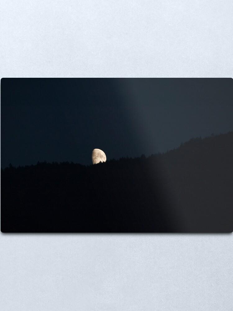 Alternate view of Moon peering over the hillside, Bolzano/Bozen, Italy Metal Print