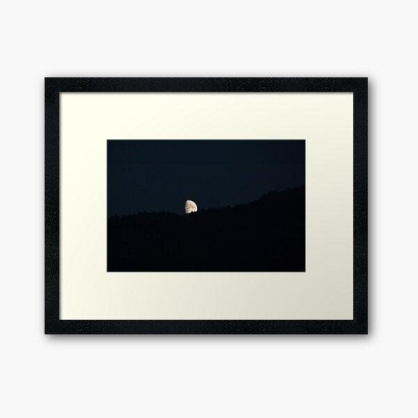 Moon peering over the hillside, Bolzano/Bozen, Italy Framed Art Print