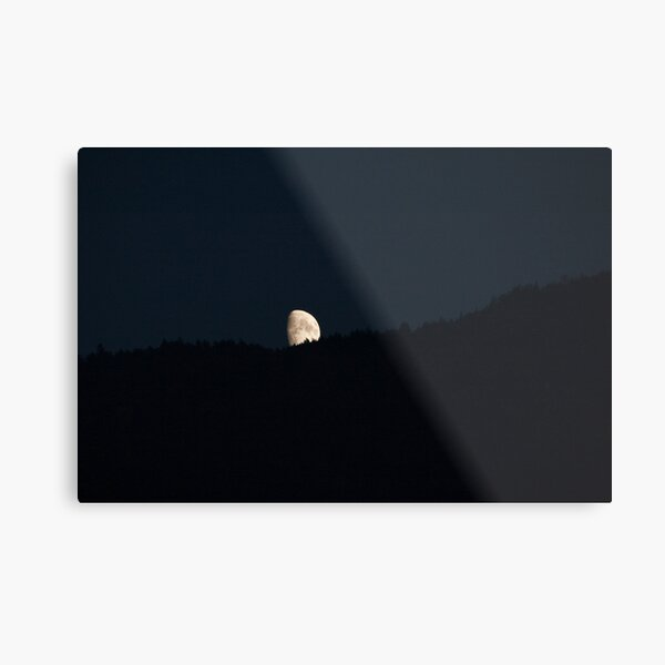 Moon peering over the hillside, Bolzano/Bozen, Italy Metal Print
