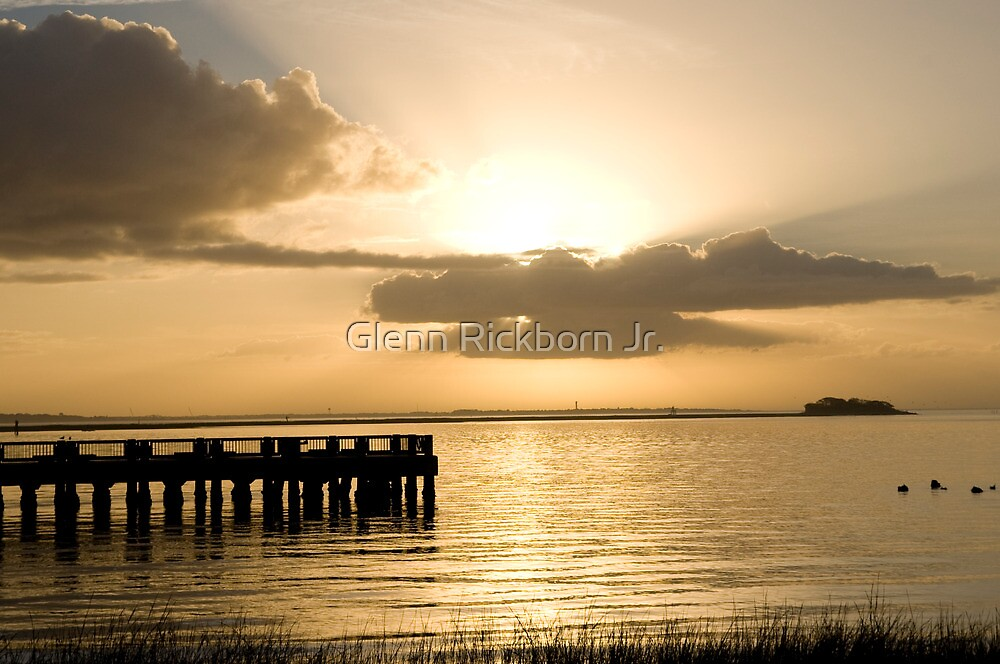 Harbor Sunrise-Charleston, S.C. by Glenn Rickborn Jr.