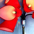 Die rote Lampe ... von Angelika  Vogel