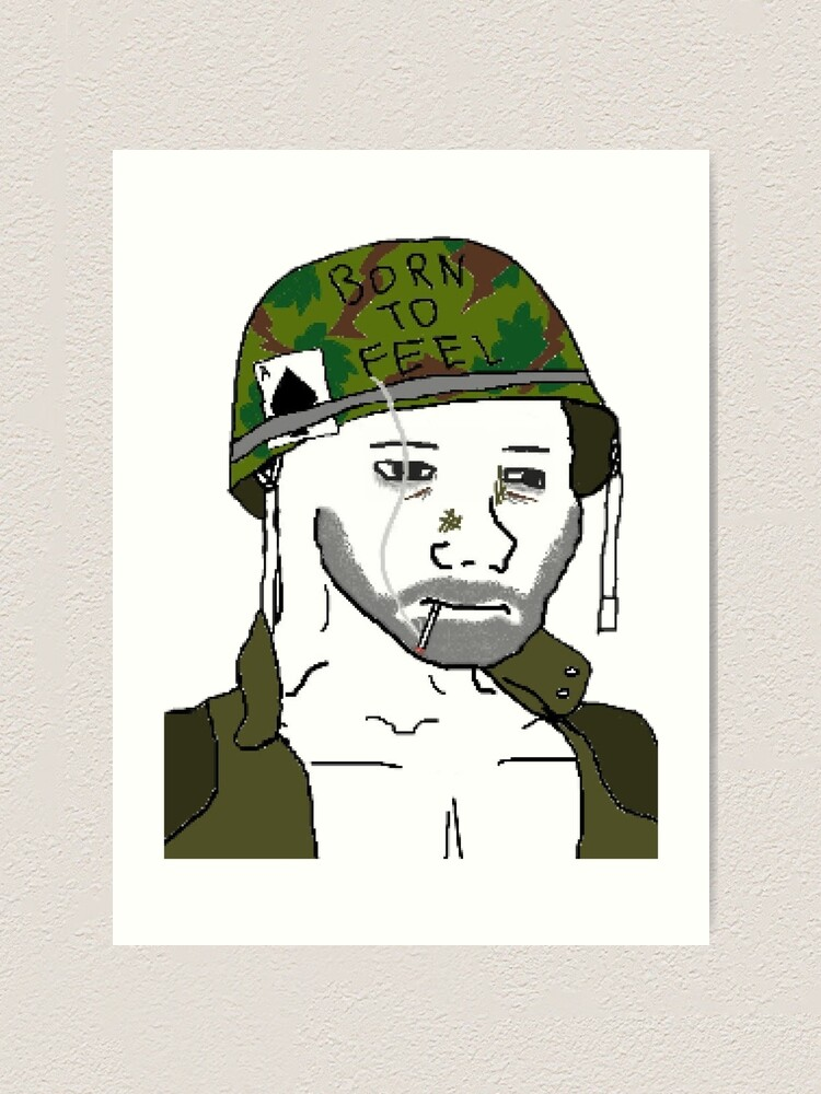 Born To Feel Doomer Wojak Art Print By Fimblenite Redbubble