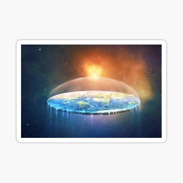 Flat Earth #FlatEarth Sticker