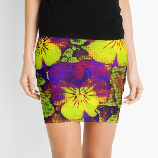Pansies with Pizzaz Mini Skirt