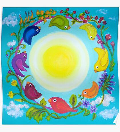 Rainbow Circle Flourishes Poster