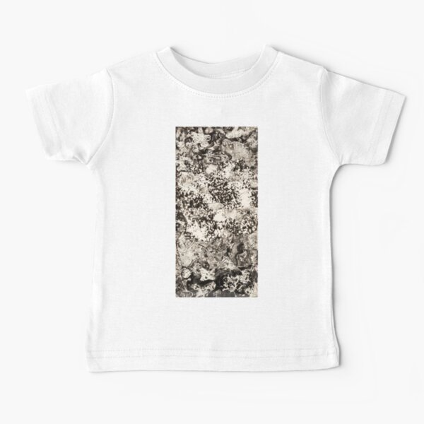 #Monochrome #Dirty #Abstract #Stain Pattern Design Rough Art Baby T-Shirt