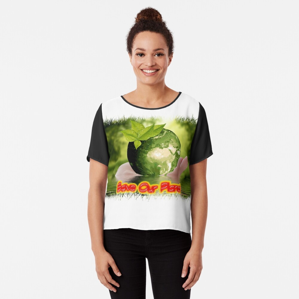 Save Our Planet Chiffon Top