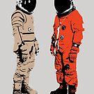 «Astronautas hablando. ¿Donde esta el baño? Lo estas usando!» de monsterplanet