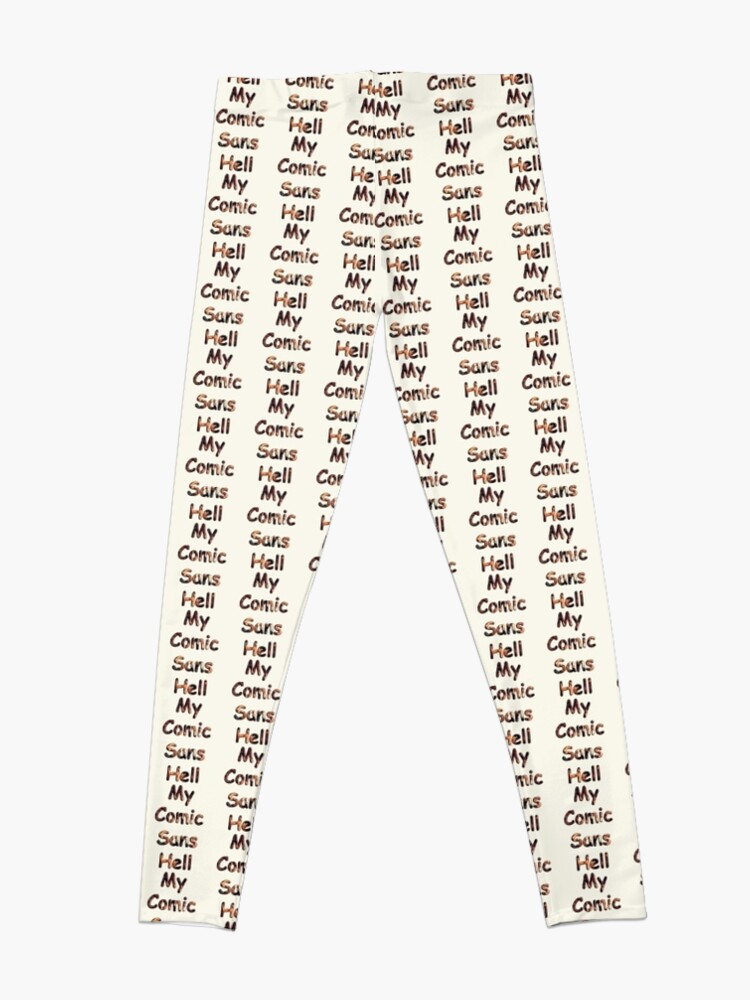 Alternate view of My Comic Sans Hell, 2014 Leggings