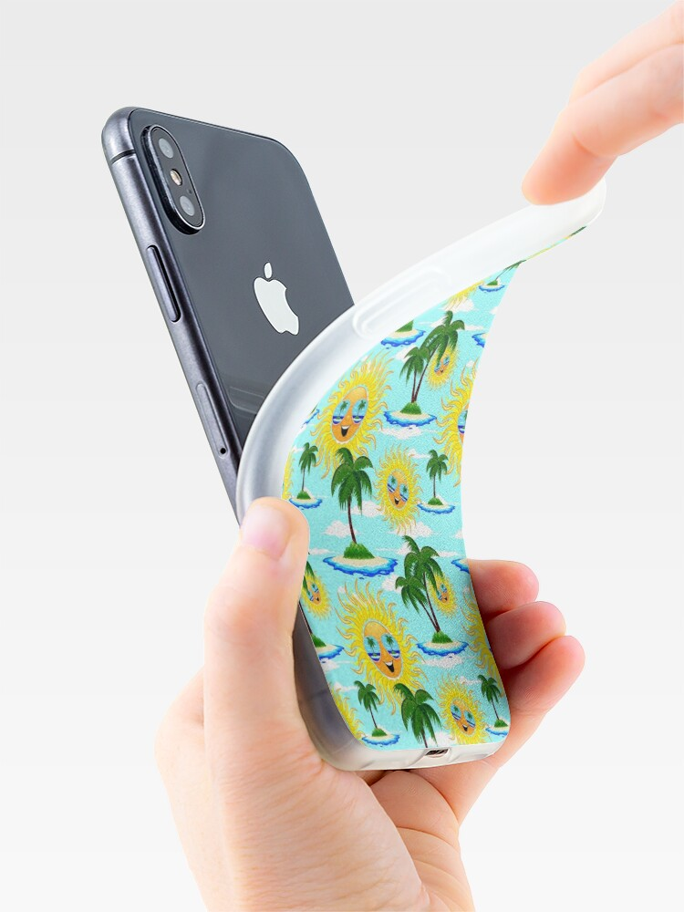Alternate view of Happy Summer Sun and Tropical Island iPhone Case & Cover