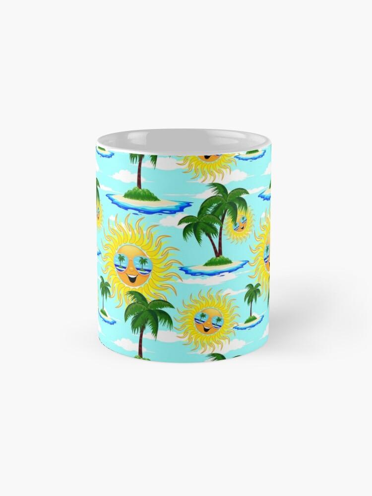 Alternate view of Happy Summer Sun and Tropical Island Mug