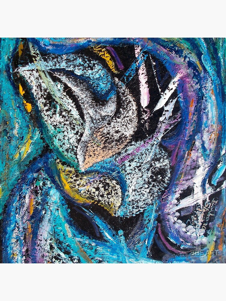 Blue Lily Abstract Art by brunobenedetti