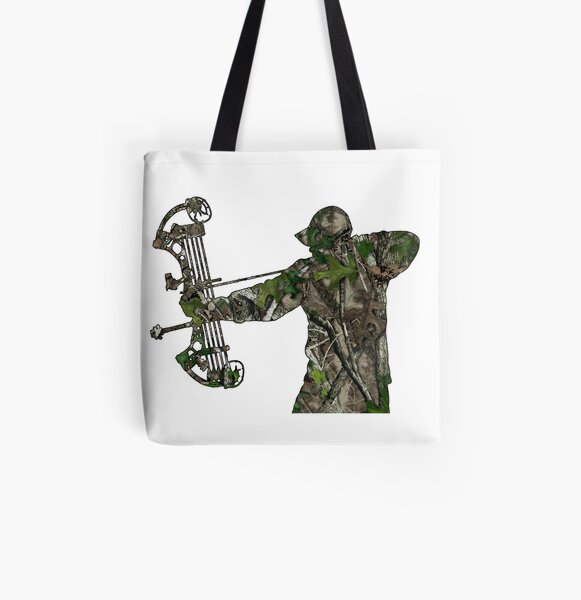 Camouflage Bow Hunter All Over Print Tote Bag