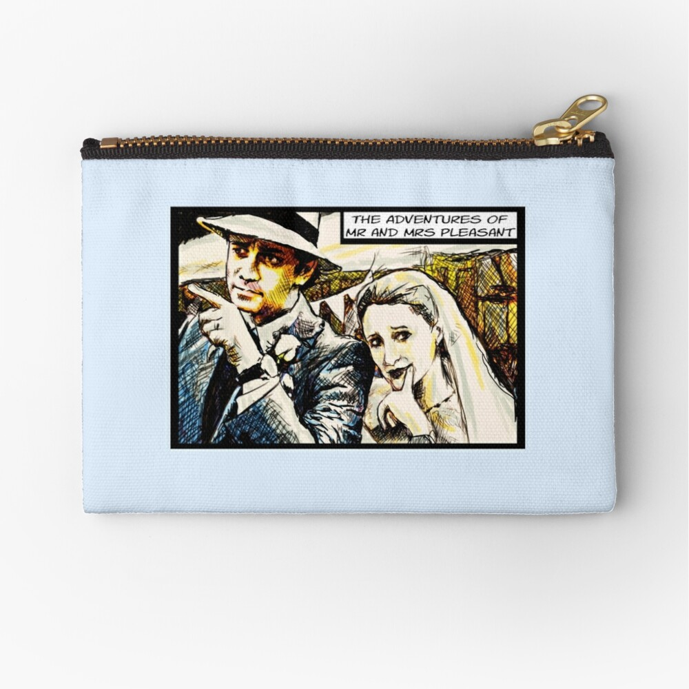 Mr and Mrs Pleasant, 2014 Zipper Pouch