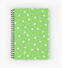 Animal Crossing Coloured Background Spiral Notebook