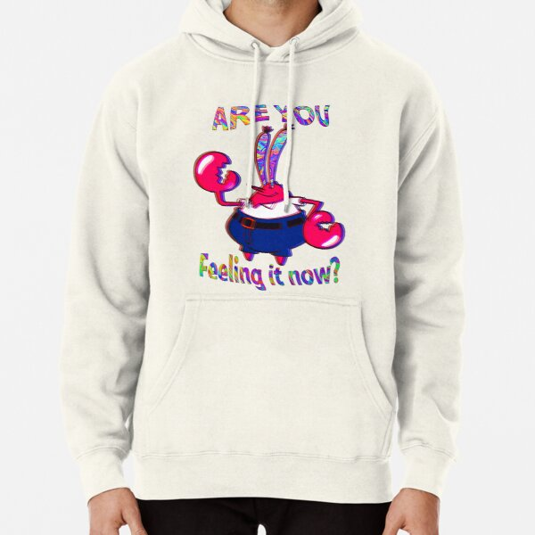 Are you feeling it now Mr Krabs? Pullover Hoodie
