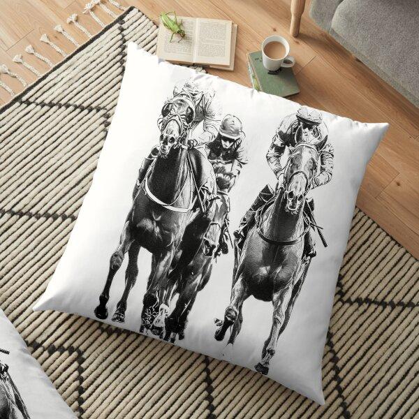 Black & White Turf Kings Floor Pillow