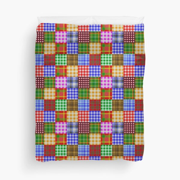 Patchwork of Plaid and Gingham Duvet Cover