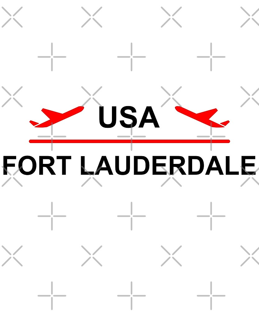 Fort Lauderdale USA Airport Plane Light-Color by TinyStarAmerica