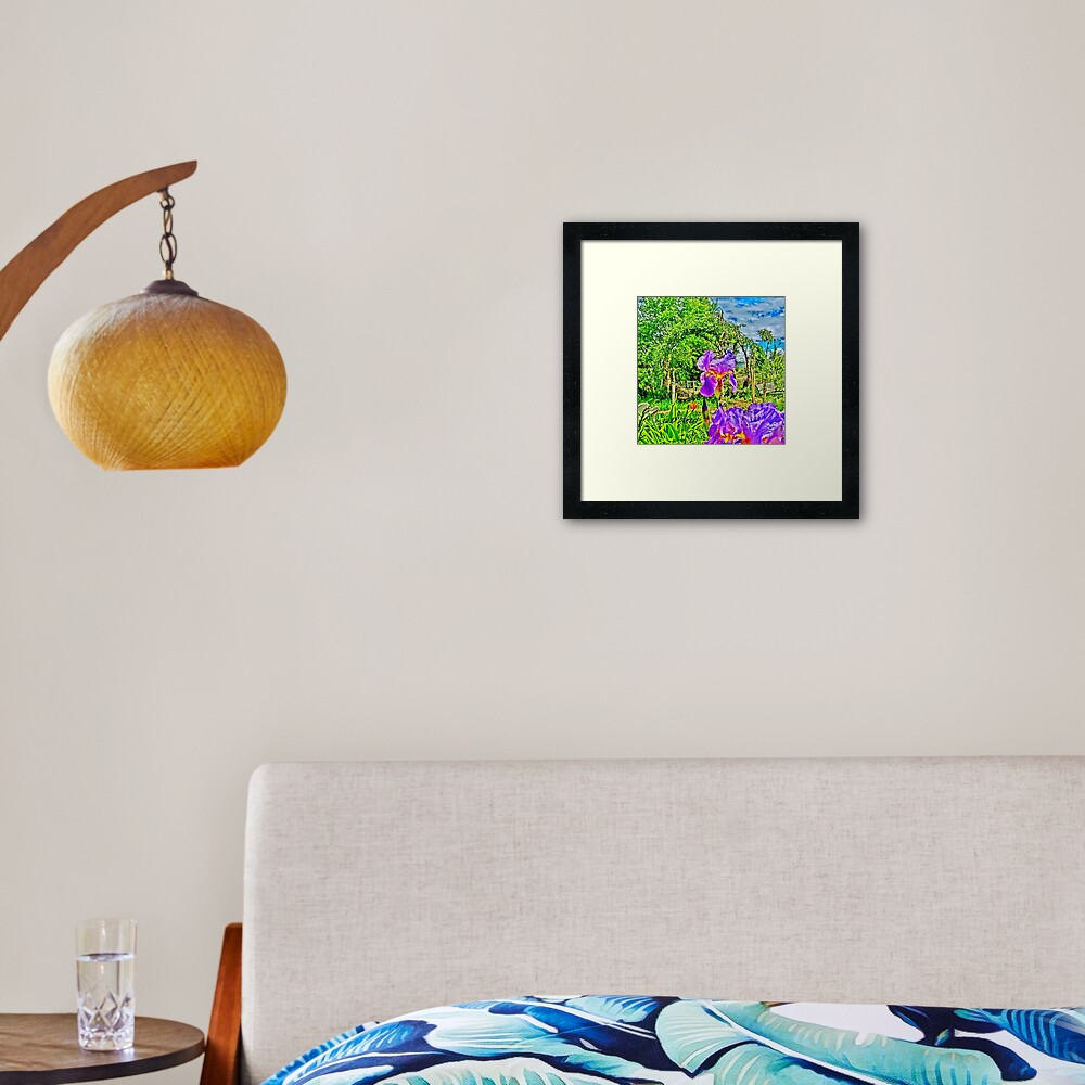 Flight of the Iris Bee, 1 of 4 Framed Art Print