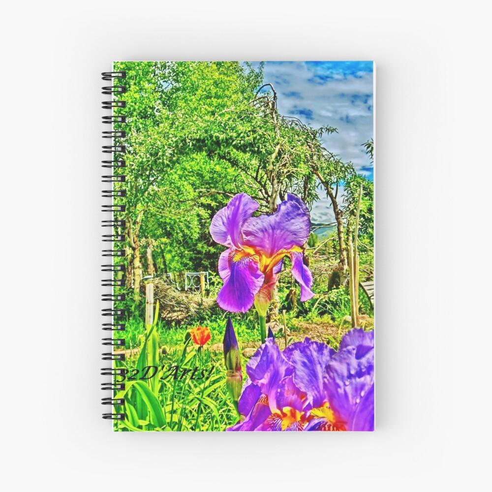 Flight of the Iris Bee, 1 of 4 Spiral Notebook