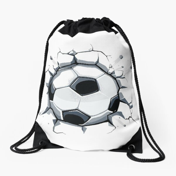 Soccer ball with 3d effect Drawstring Bag