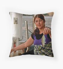 Gypsy Woman with a Fish Throw Pillow