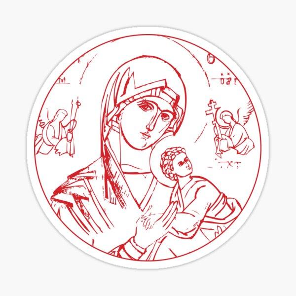 Theotokos - Perpetual Help Sticker