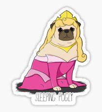 Sleeping Pugly Make it Pink! Sticker