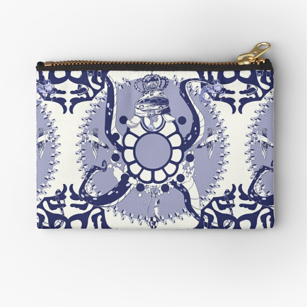 Quirky African Azulejo Comic Zipper Pouch