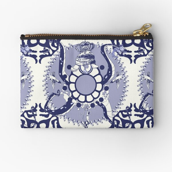 Quirky African Azulejo Comic Zipper Pouch