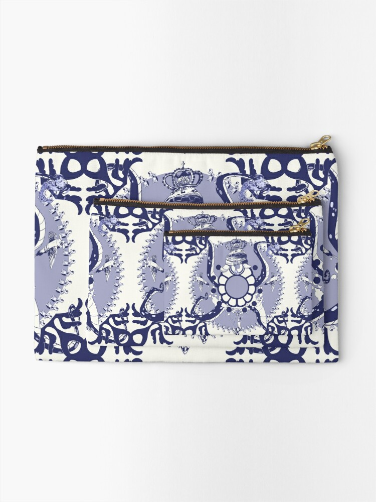 Alternate view of Quirky African Azulejo Comic Zipper Pouch