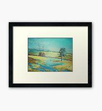 Lavanda Field Framed Print