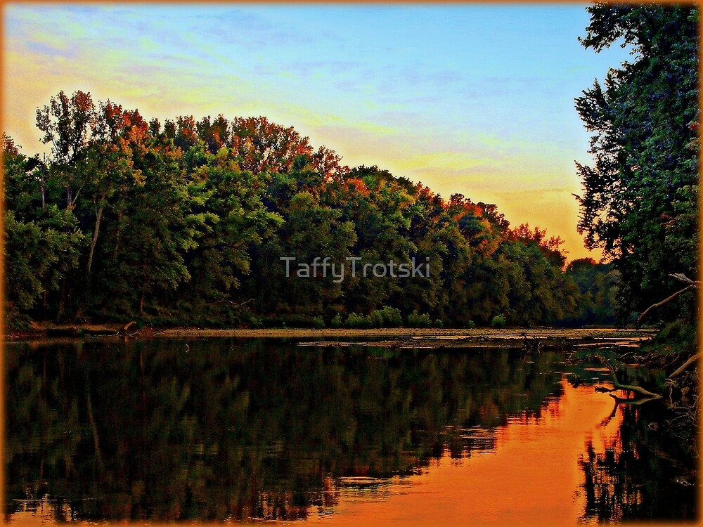 East Bank of the Little Miami River by TaffyTrotski