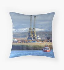 The Port Of Workington Throw Pillow