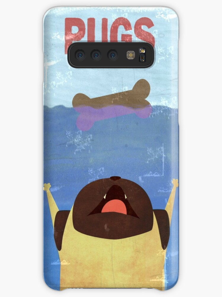 Pug Jaws Poster iphone case