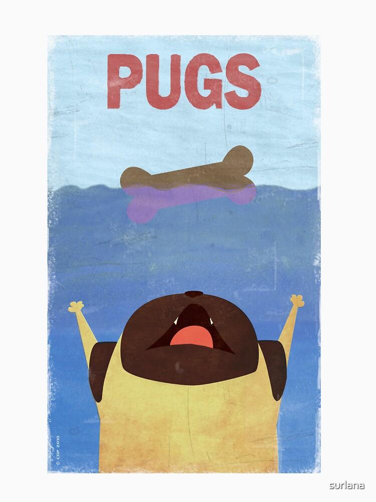 PUGS Fake Movie Poster | Unisex T-Shirt
