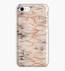 Rose Gold Waves iPhone Case/Skin