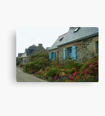 Flowered Cottages Canvas Print